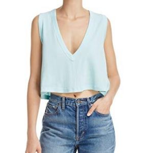 Baring it crop Top in Light blue